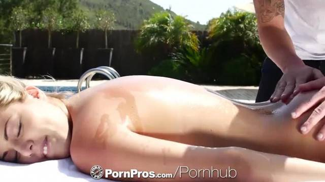 PornPros Outdoor Massage Fuck and Facial with Blonde Christen Courtney