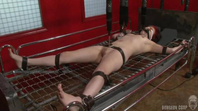 Cute babe gets Electro Bed Torture Therapy