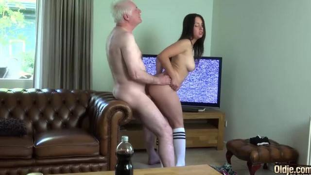 Beautiful Girl Likes to have Sex with Older Men and Feel their Dick inside