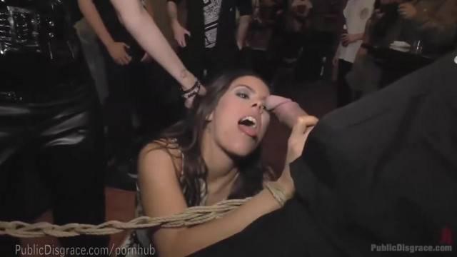 Spanish Slut Disgraced at Live Concert