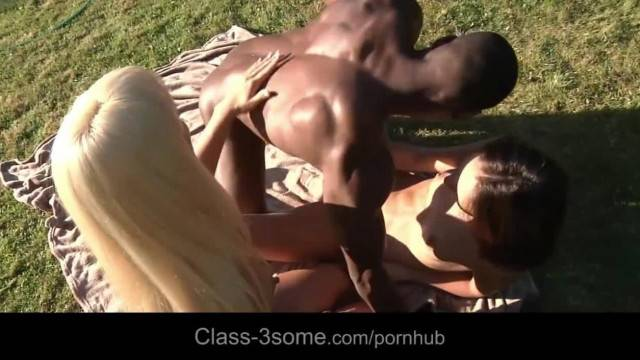 Nasty Nataly and Nela Seduce Black Cock for his Hot Vannila Load