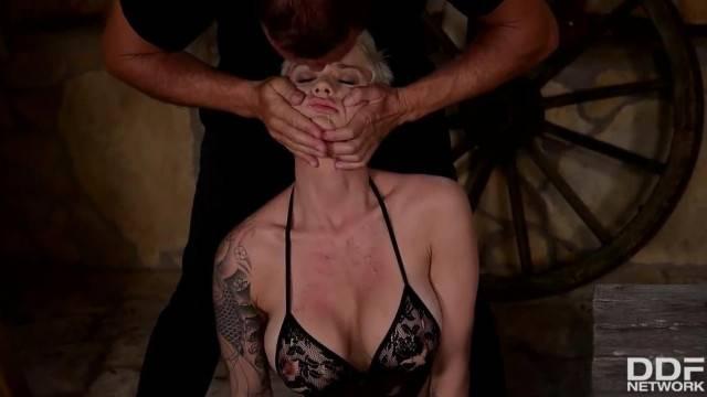 Fetish BDSM Threesome Shows Mila Milan s Pussy Asshole Crammed Balls Deep