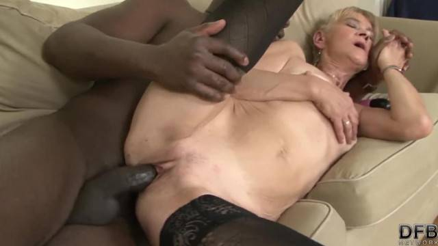 Granny Fucked Hard in her Ass by Black Guy and she gets Creampied