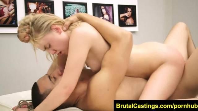 FetishNetwork Lizzie Bell BDSM Casting Jizz Rag