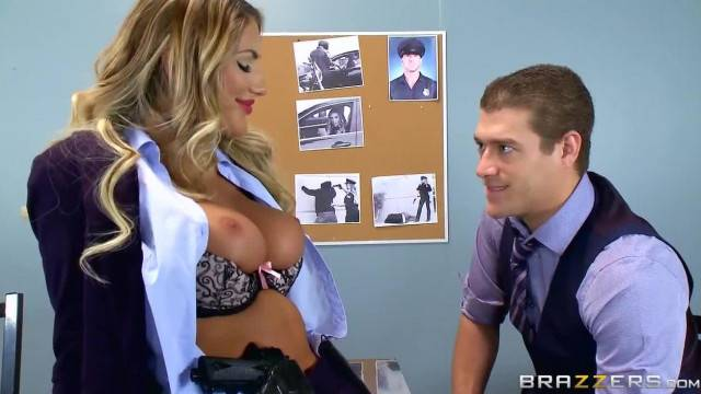 August Ames is one Sexy Fucking Cop Brazzers