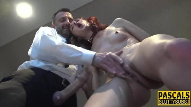 Dominated redhead Babe receives hardcore fuck