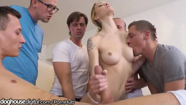 Five Cocks for Belle Claire Hungry Czech Pussy