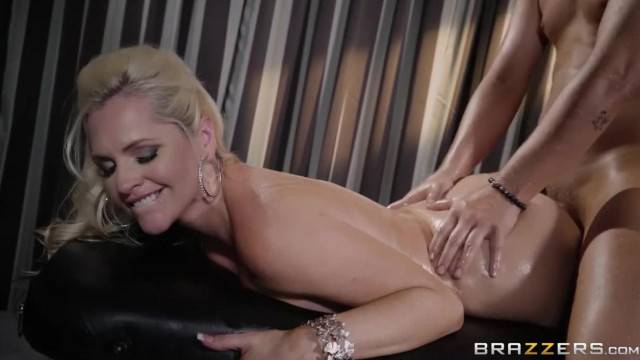 Alena Croft gets Oiled up and Pounded By huge cock
