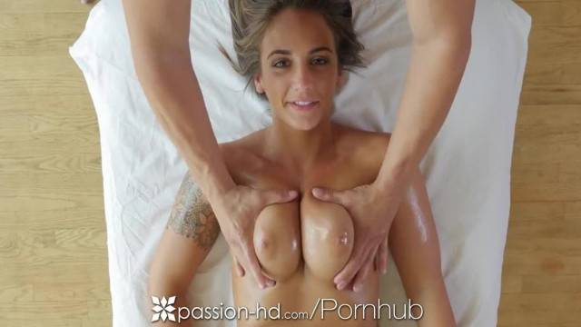 PASSION HD Oiled up Massage Fuck with Brunette Busty Layla London