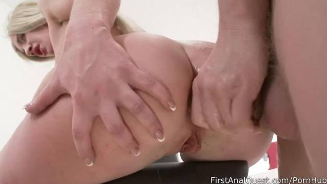 Unforgettable first Anal Sex of a Young Blonde Anjela Vital