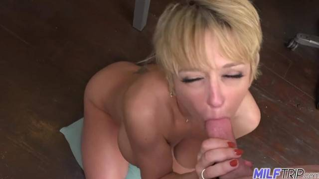 MILF Trip Hot Blonde MILF Absolutely Loves the Dick Part 1