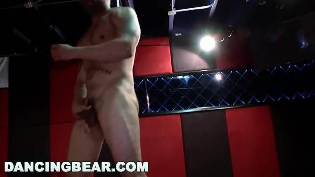 DANCING BEAR CFNM Whores Sucking Male Stripper Dick at the Club db11453