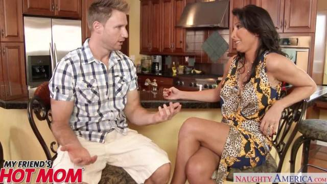 Horny Mom Lezley Zen Chokes on her Son s Friend s Dick Naughty America