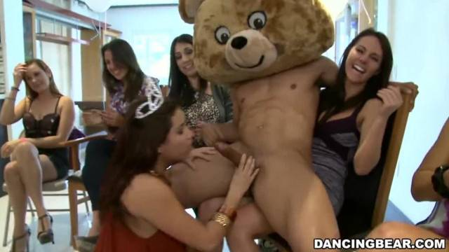 CFNM Birthday Party with Male Strippers on Dancing Bear db9747