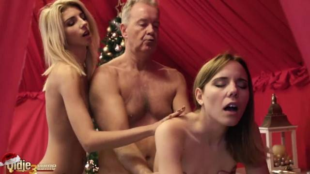 Old vs Young Porn 2 Teens Hardcore Fucked by old Man the Girls Swallow Cum