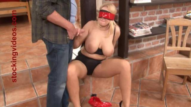 Tied up Panty Slut Angel Wicky Giving a Blow Job