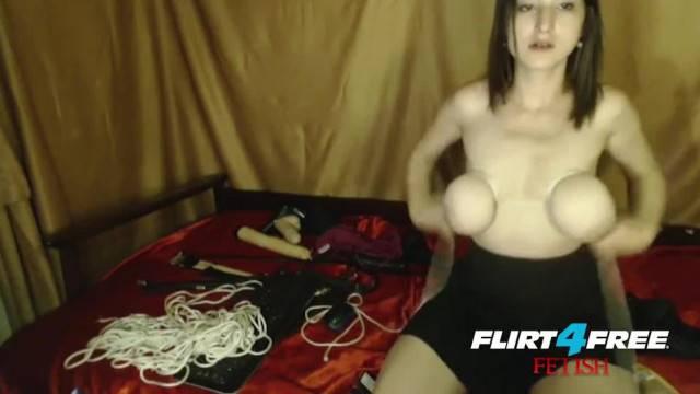 Big Natural Tits Breast Bondage Lotion Play