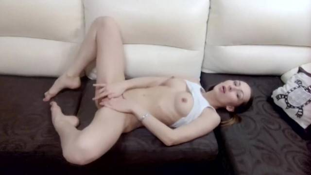 White Lingerie and Nasty Pussy