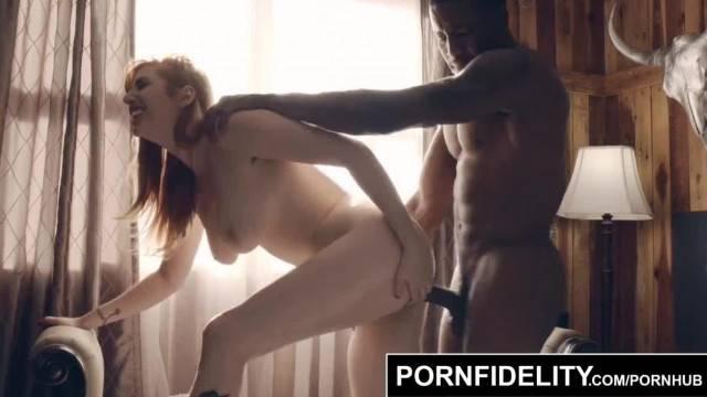 PORNFIDELITY Curvy Redhead Lauren Phillips Fucked Hard by Big Black Cock
