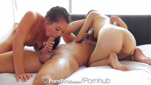 PornPros Sexy Teens have Threesome with Lucky Guy