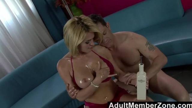 AdultMemberZone Oily Babe gets Rammed