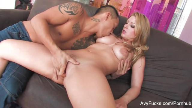 Blonde Avy Scott Teases her Man before getting Creampied