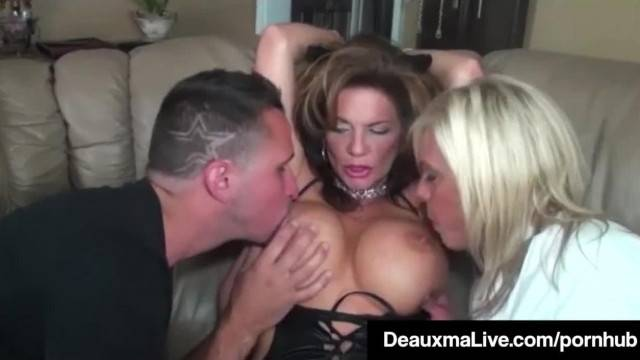 Role Play by Sexy Cat Woman MILF Deauxma Ends in threesome