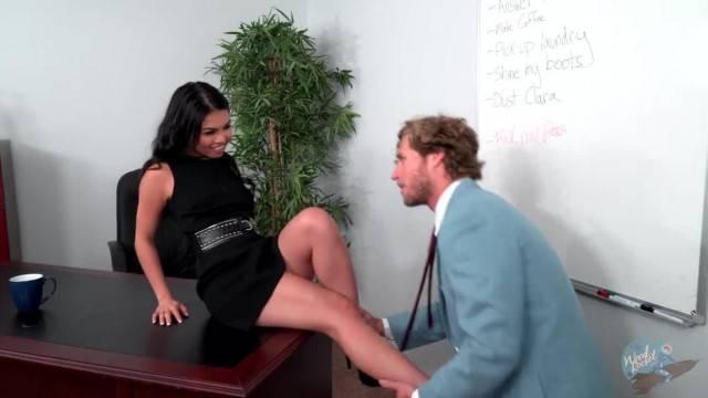 Hot asian Cindy Starfall gets the secretary training