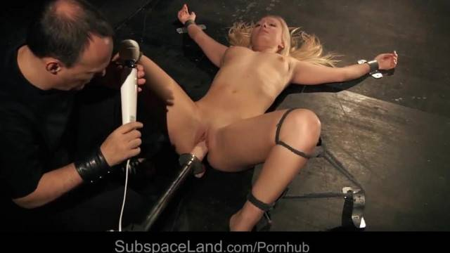 Inverted Ass Whipping and BDSM Machine Fuck for Shy Slave