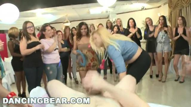 DANCING BEAR A Wild CFNM Dick Sucking Orgy for the Bride to be