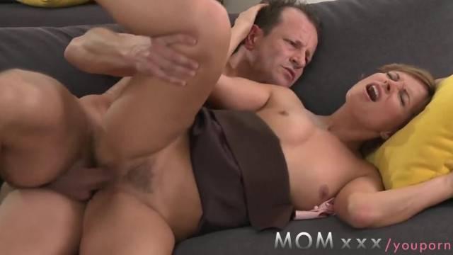 MOM Brunette MILF gets Fucked before Date Night Starts