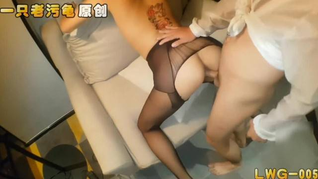 Pantyhose teasing and doggy style fuck with asian amateur babe
