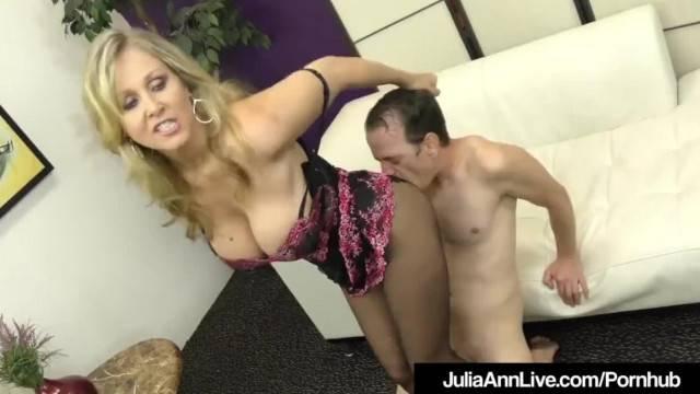 Award Winning MILF Julia Ann Foot Fucks A Hard Slave Cock