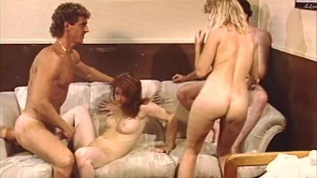 Natural hot babes stuffed with big dicks in group fuck