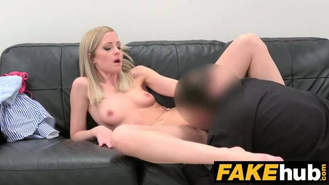 Blonde model fucks the casting agent to get the job