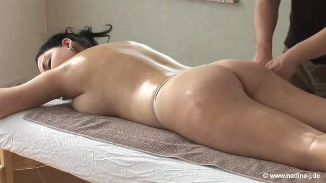 Masseur Plays with Brunette Matures Big titties
