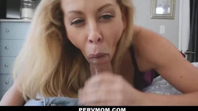PervMom Horny Big Tit Mom Fucks Panty Sniffing StepSon