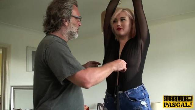 BDSM treatment and hardcore fuck for slutty blonde