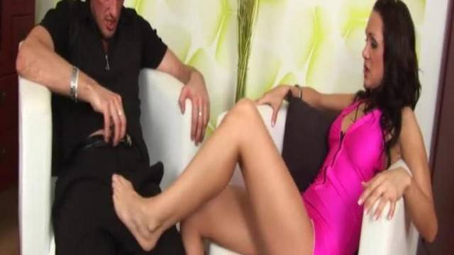 Hot Footjob with Cynthia Vellons