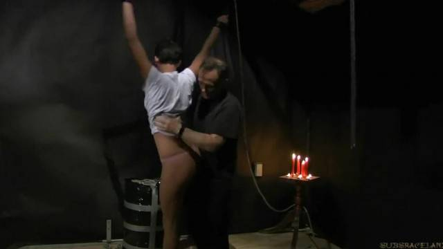 Short Hair Teen gets Candle Wax on her Tits and Endures BDSM Punishment