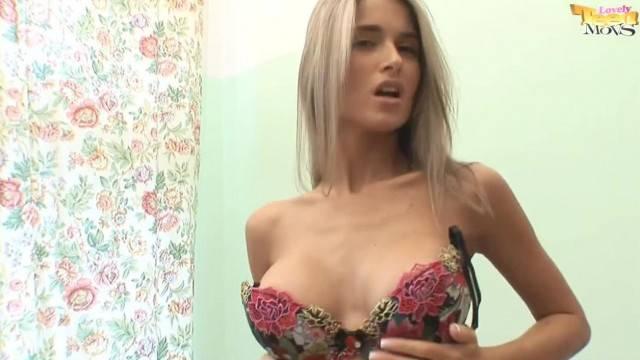 Watch gorgeous Nessa Devil Stripping