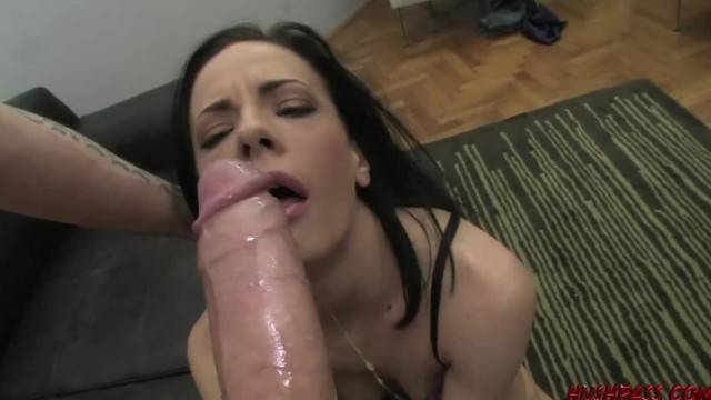 Dirty babe Aliz gets anally destroyed by monster cock