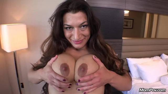 Anal and pussy POV fuck with brunette curvy MILF