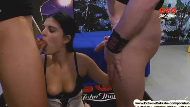 Ass and Cock Licker Babe Alice Nice Extreme Bukkake