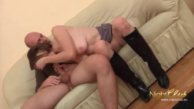 Cuck boyfriend watches his chick riding fat cock