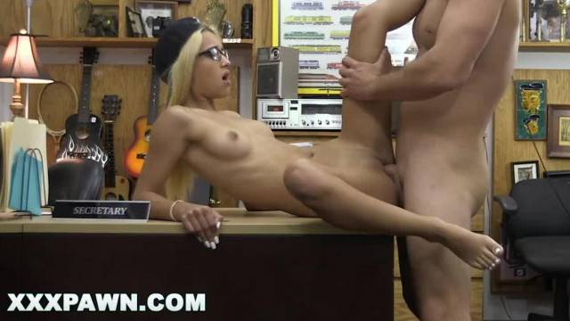 Blonde babe Uma Jolie goes all the way to pay her debt