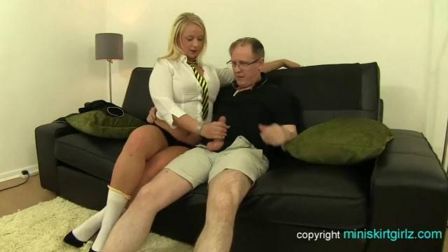 Blonde with huge ass gets anal fucked by old dick