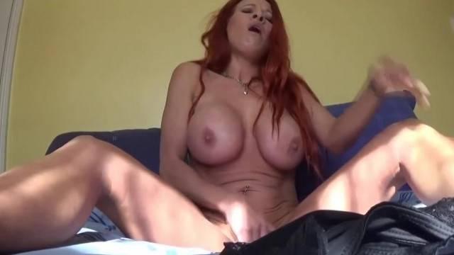 Giantess fantasy with busty redhead MILF