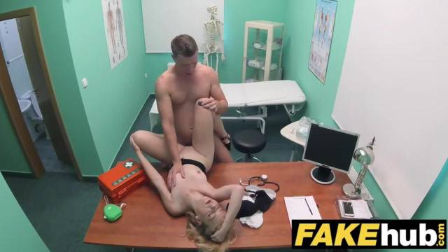 Blonde cutie Kristina Blond fucked hard by young doctor