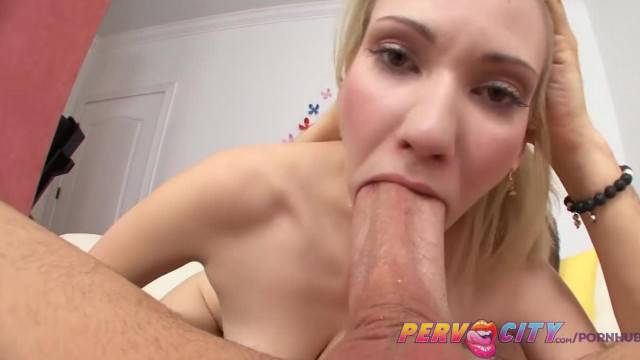 PervCity Mike Adriano Swallowed by Blonde Slut